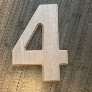 New. Wooden 4 photo prop / sign